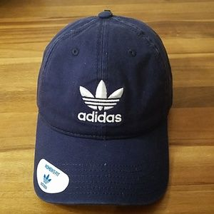 Adidas navy and white women's fit hat